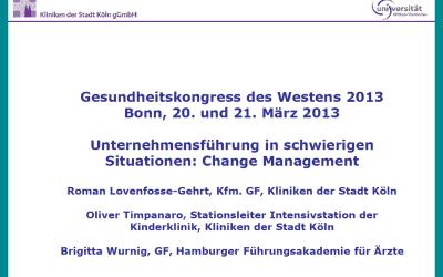 """""""Unternehmensführung in schwierigen Situationen: Change Management"""""""