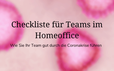 Checkliste für Teams im Homeoffice