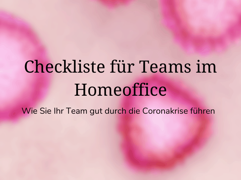 Checkliste für Teams im Homeoffice